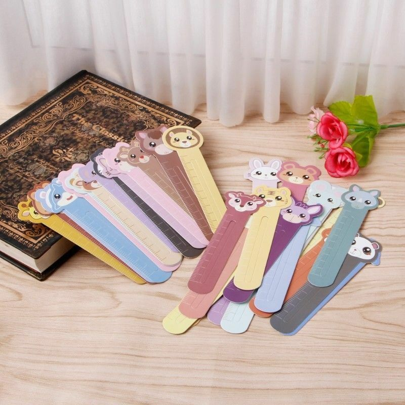 30 Pcs Kawaii Fun Animal Farm Cartoon Bookmark Paper For Books Babys Gifts Cute 11