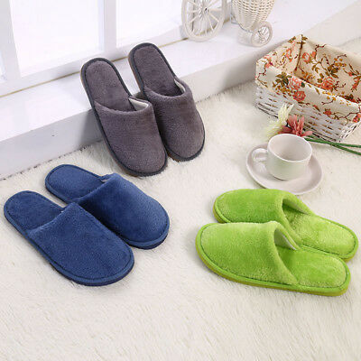 Men Cotton Plush Warm Slippers Home Indoor Winter Slippers Shoes 4
