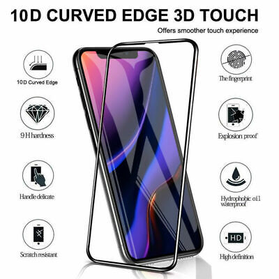 Screen Protector for iPhone 11, 11 Pro Max 9H Curved FULL COVER TEMPERED GLASS 7