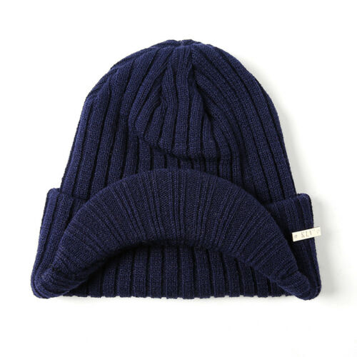 f2b7fe33 MENS WOMENS WINTER Warm Knit Hat Ski Visor Fleece Outdoor Beanie Brim Cap US