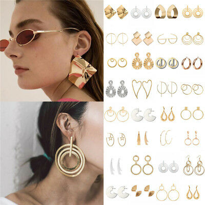 Fashion Statement Metal Geometric For Women Boho Dangle Earrings Modern Jewelry 6