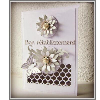 Romantic Mini French Words Cutting Dies Stencil Scrapbook album Embossing Card 2