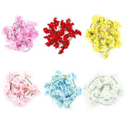 2m Artificial Cherry Blossoms Rattan Sakura For Wedding Arch Hanging Wreath Deco 6
