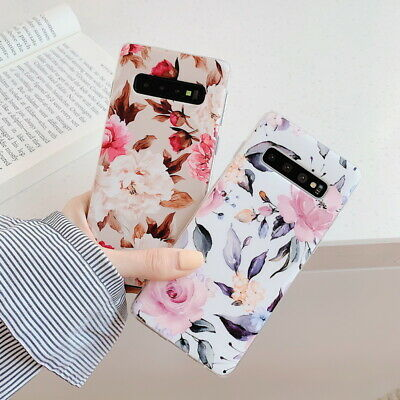 Shockproof Flower Slim Phone Case Cover For Samsung Galaxy S10 Plus A70 A50 S9 2