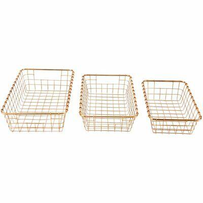 Zuo 3 Piece Basket Set in Gold 2
