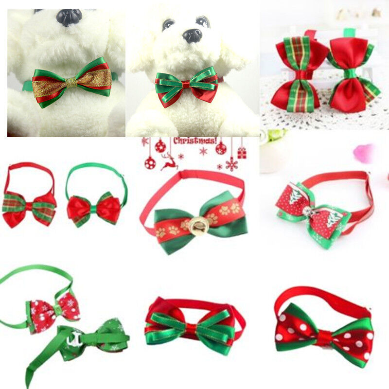 Cute Christmas Dog Cat Pet Puppy Bow knot Necktie Collar Bow Tie Clothes Hot 2