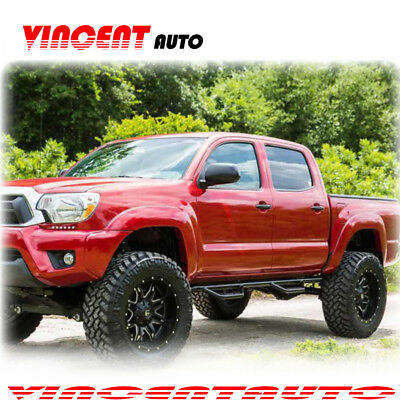 """Fits 15-20 Colorado//Canyon Crew Cab 3/"""" Blk Side Step Nerf Bars Running Boards HD"""
