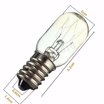 220-240V 15W T20 Ampoule de tungstene de refrigerateur E14 Culot a vis I5 P2R 1X