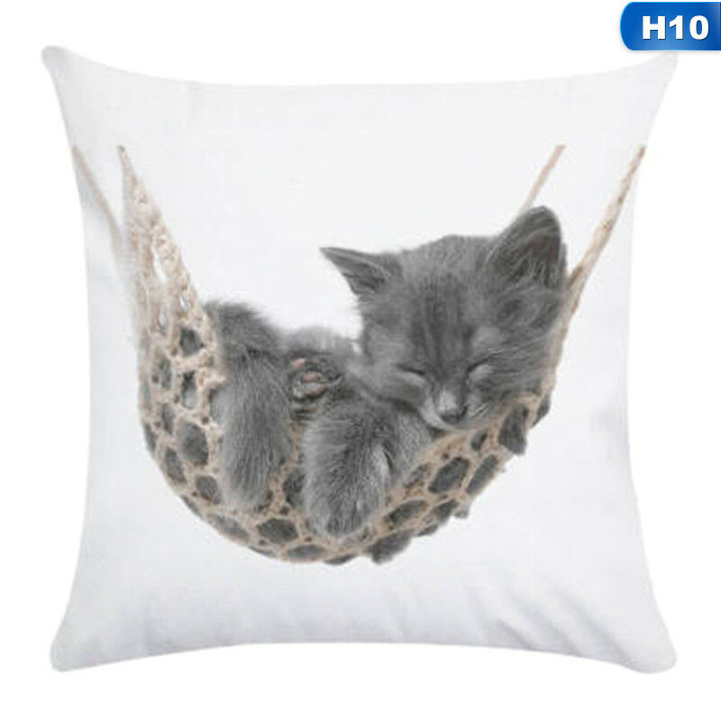 1X Animal Cute Cat Pillow Case Pet Cushion Cover For Home Pillowcase Decorations 10
