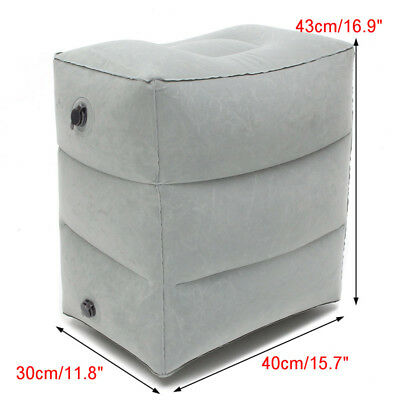Inflatable Office Travel Footrest Leg Foot Rest  Cushion Pillow Pad Kids Bed 10