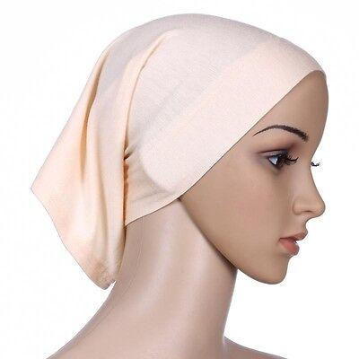 Muslim Women Hijab Under Scarf Inner Cap Bone Bonnet Neck Cover Cap Head Wrap 5