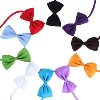 2PCS Dog Puppy Cat Necktie Bow Tie Small Dog Pet Clothes Decor Bowknot 6