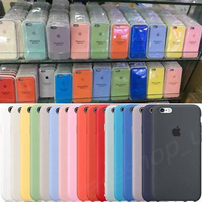 Funda para Apple iPhone X 8 7 6S Plus Original carcasas de Silicona Duro Genuina 4