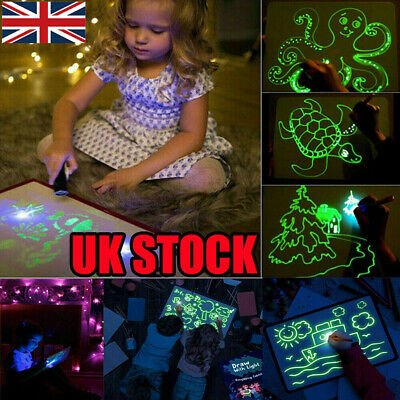 Light Up Drawing Fluorescent Magic Writing Board Kit Kids Fun And Developing Toy 5