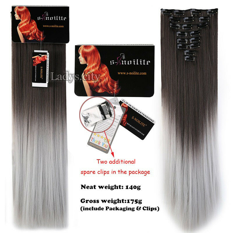 ON CLEARANCE Clip in 100% Real Natural as Human Hair Extensions 8 Pcs  Long Wavy 7