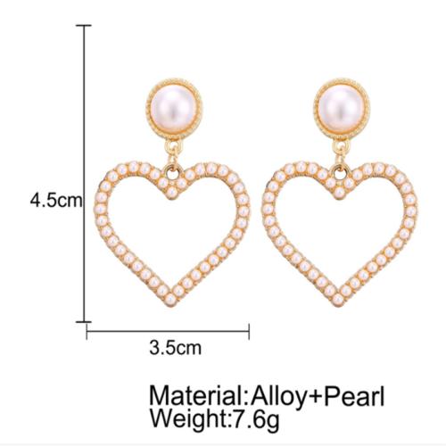 Geometric Irregular Circle Baroque Pearl Earrings Metal Gold Drop Dangle Earring 12