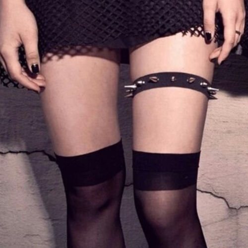 Adjustable Corset Stocking Suspender Strap Punk Rock Thigh Leg Ring Garter Belts