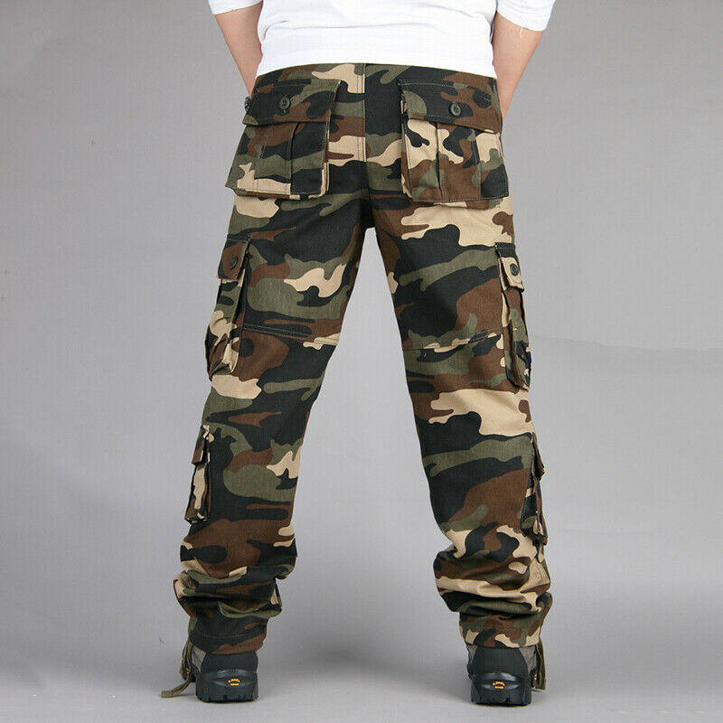 Mens Military Combat Trousers Camouflage Cargo Camo Army Casual Work Long Pants 8