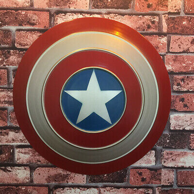 Avengers Captain America Shield Iron Replica Vintage Bar Decoration Cosplay Prop 6