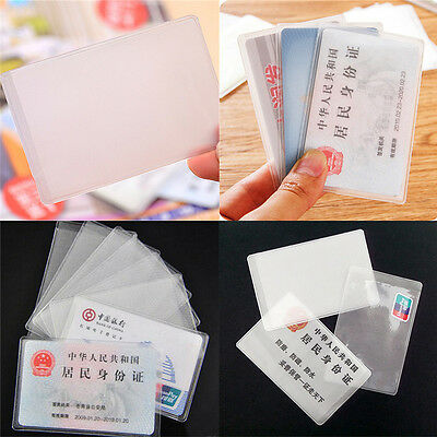 10X PVC Credit Card Holder Protect ID Card Business Card Cover Clear FrosteUULK 3