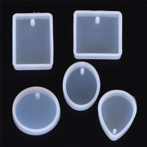 5pcs Silicone Mould Set Craft Mold For Resin Necklace jewelry Pendant Making H&P