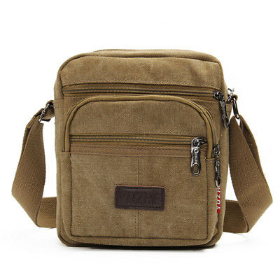c1076db0d451 ... Mens Retro Canvas Shoulder Bag Multi Pockets Casual Crossbody AU Messenger  Bags 3