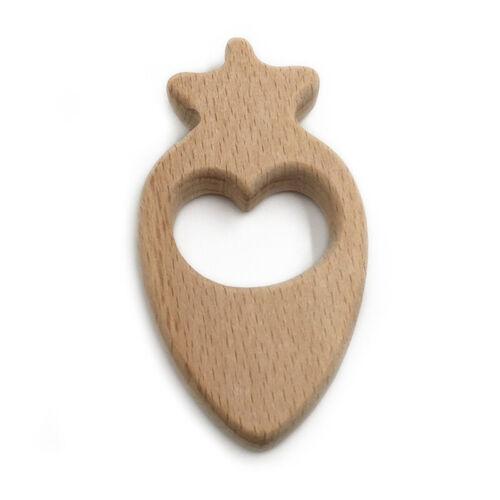 Baby Radish Teether Wood New  Accessory Handmade Bracelet Food Grade Toys G 2