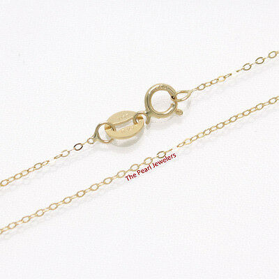 1.8 mm 14k Solid Yellow Gold Round Wheat Style Chain Necklace TPJ