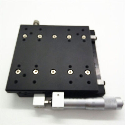 X-Axis Manual Trimming Platform Linear Stage 60mm 0.01mm Sliding Table Bearing 6