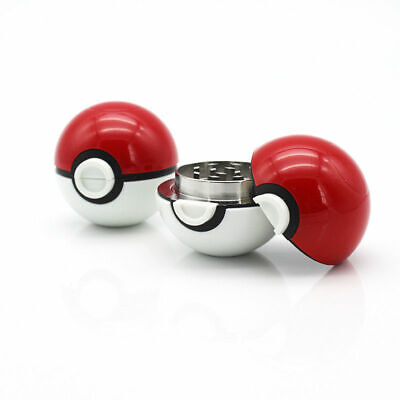 2 Inch 3 Pieces Pokeball Tobacco Spice Herb Pokemon Grinder US Seller 2