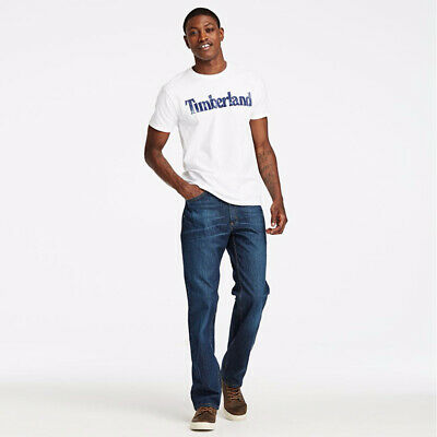 NWT Timberland Men's Faded Linear Logo Short Sleeve Crew Neck T Shirt A11GY NEW 8