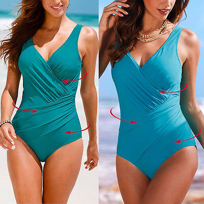 24aad0d0d4c ... Plus Size Women s Vintage Monokini One Piece Retro Swimwear Bathing  Suit Beach 3