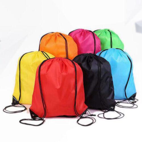 Drawstring Backpack Cinch Sack Large Tote Bag School Sport Lightweight Bags 2