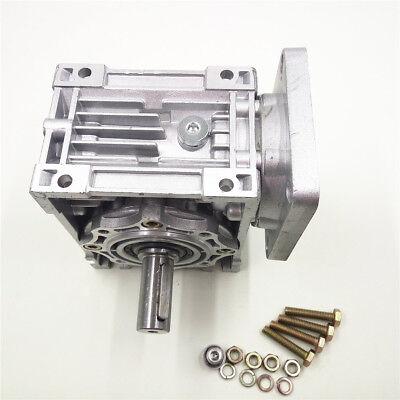 Worm Gear Reducer RV040 NEMA24/34 Speed Gearbox 10 15 20 25 30 40 50 60 80 100:1 5