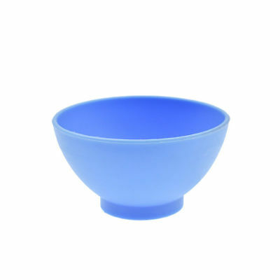 Dental Lab Mixing Bowl Blue Nonstick Flexible Silicone Rubber Impression Cup 6