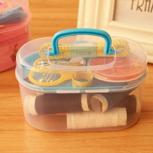 Home Travel Thread Threader Needle Tape Measure Scissor Storage Box Sewing Kit 3