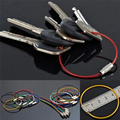Catene dell'anello chiave 5x acciaio inox filo portachiavi cavo escursione`ester 2