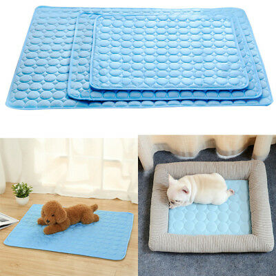 Dog Cooling Mat Pet Cat Chilly Non-Toxic Summer Cool Bed Pad Cushion Indoor 2