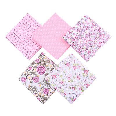 5Pcs DIY 50*50cm Mixed Pattern Cotton Fabric Sewing Quilting Patchwork Crafts 2
