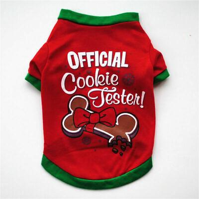 Cute Dog Puppy Christmas Santa Warm Costumes Coat Clothes Pet Apparel Shirt US 5
