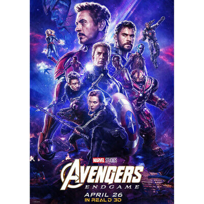 Avengers 4 & 3 Infinity War Movie Thanos Iron Man Kraft Paper Posters Picture 7