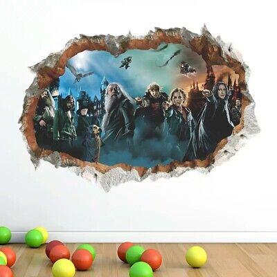Xl 3d Wandtattoo Harry Potter Hogwarts Film Sticker Aufkleber Bild Deko Tapeten Eur 6 98 Picclick De