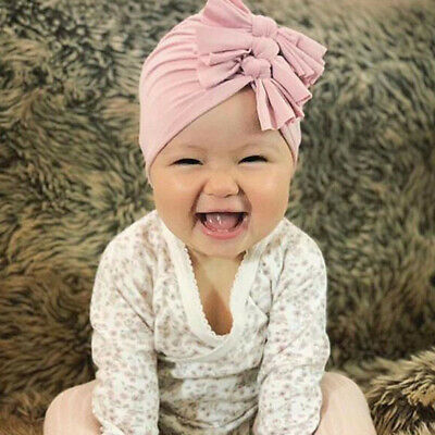 New Baby Headbands Turban Knotted Girl's Hair Bands for Newborn Children Cotton 6