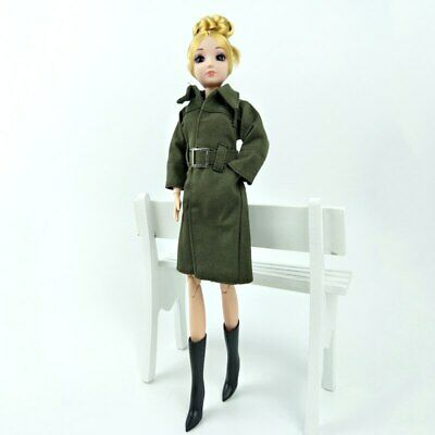 Office Lady Fashion Coat For 1/6 Doll Clothes & Shoes Outfits For 11.5in Doll 2