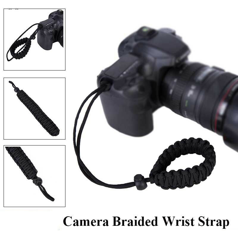 Adjustable Camera Wrist Strap Braided Strong Weave Lanyard For Paracord DSLR 4