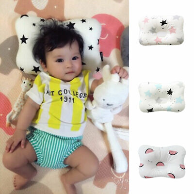 Cotton Baby Infant Newborn Pillow Flat Head Sleeping Support Prevent Breathable 3