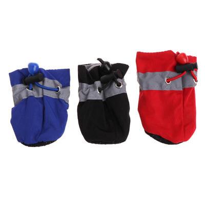 4Pcs/set Dog Boots Shoes Anti Slip Waterproof Puppy Rain Pet Small Cat Pet Socks 7