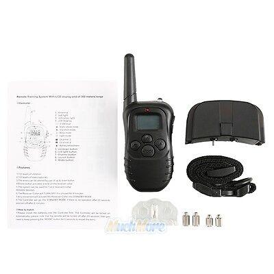 300 Yard Electric Waterproof LCD Shock Vibra Remote Pet Dog Training Collar Kits 2