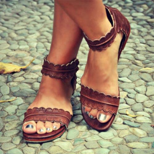 16192100374605 Damen Flach Sommerschuhe Espadrilles Sommer Retro Sandalen Schuhe  Freizeitschuhe 7 7 von 8 Siehe Mehr