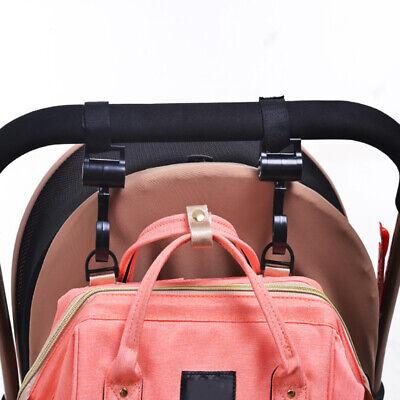 2pcs/Lot Baby Hanger Bag Stroller Hooks Pram Rotate 360 Cart Hook Accessories 3